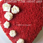 Valentine's red velvet cake