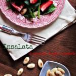Insalata di spinacini, fragole e mandorle