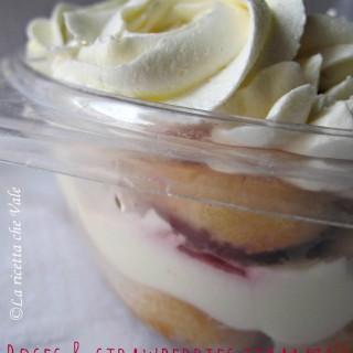 Roses & strawberries tiramisù