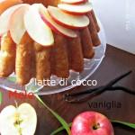 Torta alle mele, latte di cocco e vaniglia
