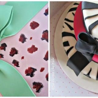Two fashion cakes
