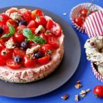 Cheesecake salata senza cottura al pomodoro