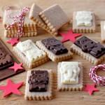 Biscotti speziati con cialda di cioccolato