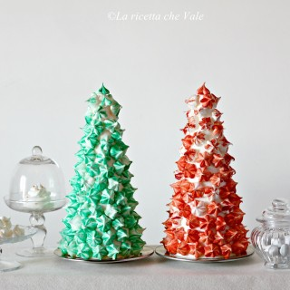 Christmas meringue tree