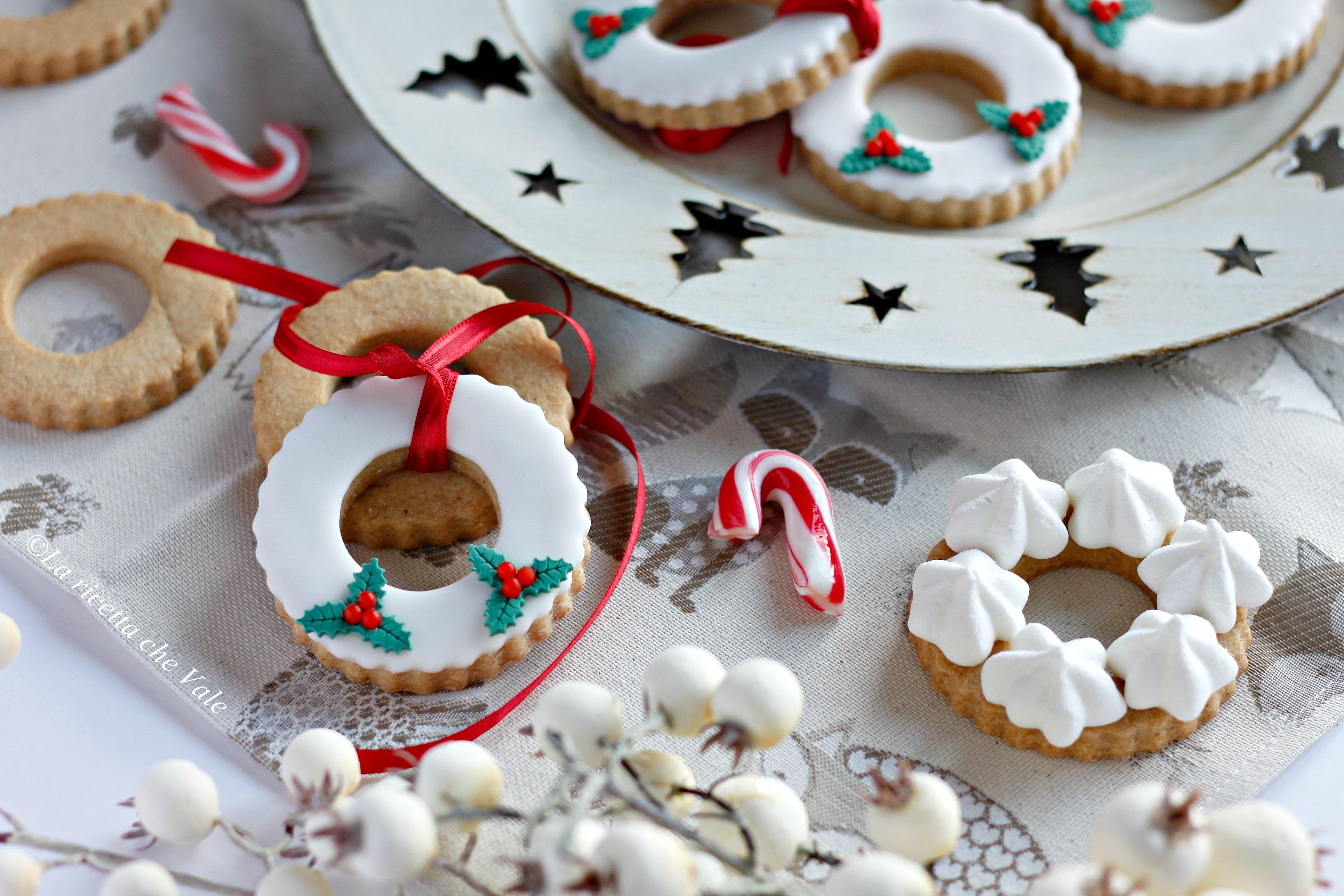 Biscotti Finti Per Albero Di Natale.Ghirlande Biscotto La Ricetta Che Vale