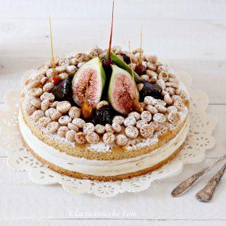 Torta ricotta e fichi caramellati
