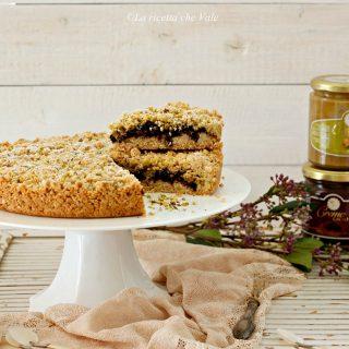 torta sbriciolona al cacao e pistacchio