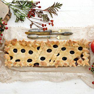 crostata amarene e mele