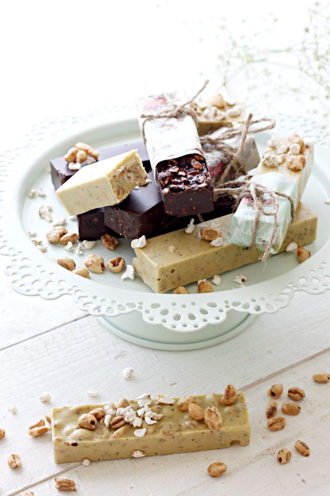 barrette al cioccolato e cereali