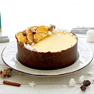 torta speziata all'arancia senza cottura
