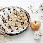 Crostata al farro, mele e cioccolato