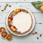 Crostata senza cottura arancia e mandorle