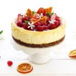 Cheesecake fragole e lamponi